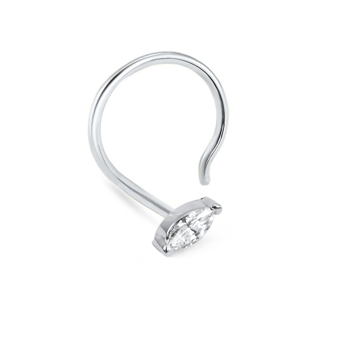 Bend To Fit Diamond Nose Ring