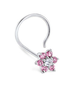 White-gold-nose-screw-pink-flower-full-left-1