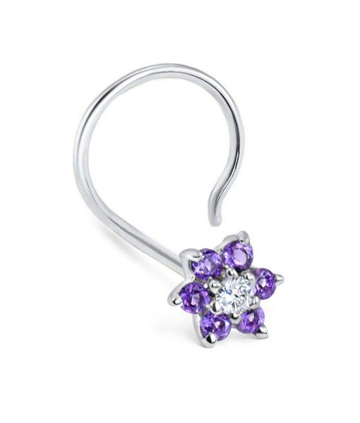white-gold-nose-screw-purple-flower-fullleft-1
