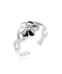 flower-toe-ring-silver