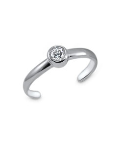 solitaire-toe-ring