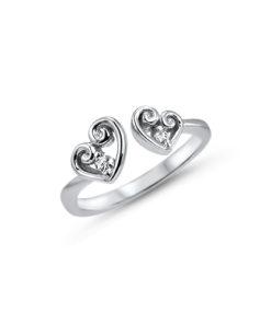 double-heart-toe-ring