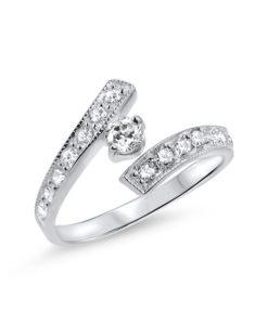 white-gold-toe-ring