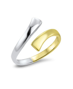 white-yellow-gold-toe-ring