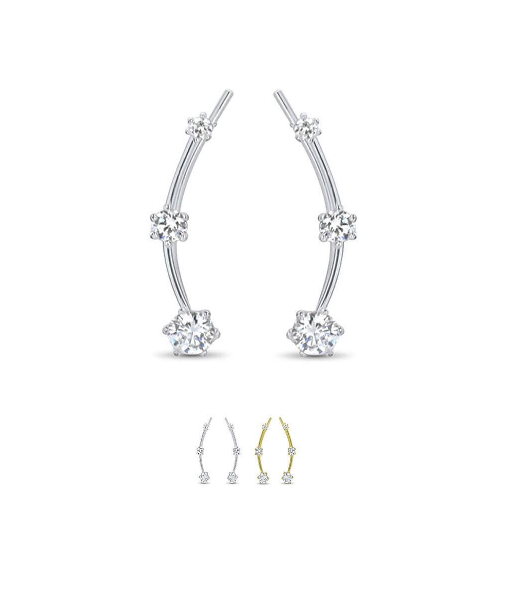 925 Sterling Silver Or 18k Gold Plated Ear Crawler Ear Vine Ear